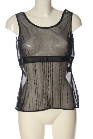Blacky Dress Blouse transparente noir style extravagant