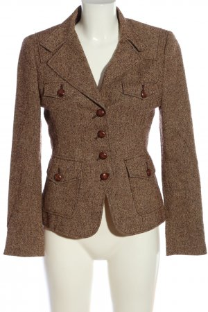 Blacky Dress Blazer in tweed marrone modello web stile casual