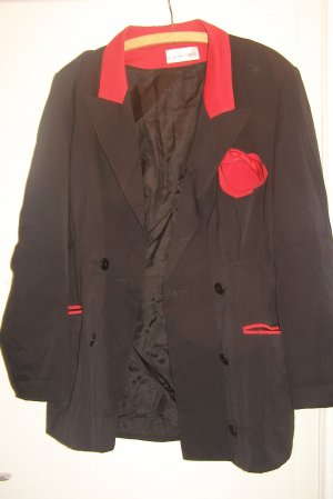 Blacky Dress Vintage Blazer schwarz mit Rose