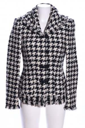 Blacky Dress Winter Jacket black-white allover print business style