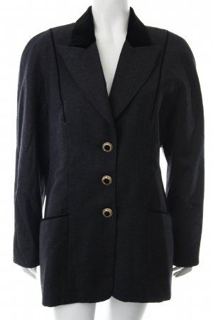 Blacky Dress Blazer in lana grigio scuro-nero