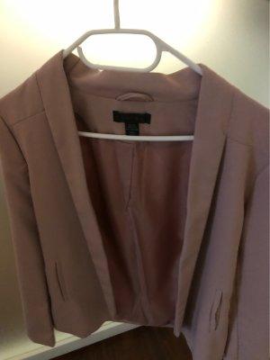 Amisu Jersey blazer stoffig roze-rosé