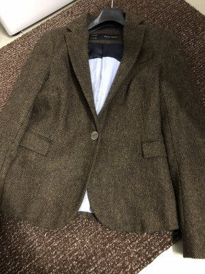 Zara Premium Blazer en laine multicolore laine