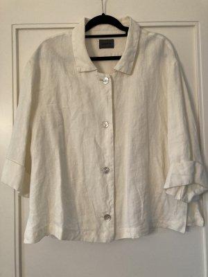 Oska Short Blazer natural white linen