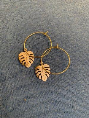 Handmade Zdobione kolczyki złoto-w kolorze różowego złota