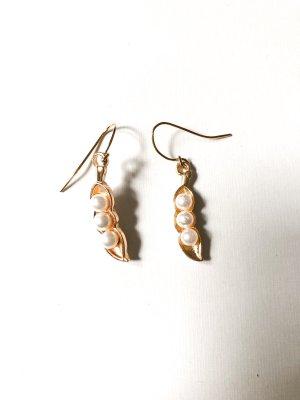Blätter Ohrringe Perlen