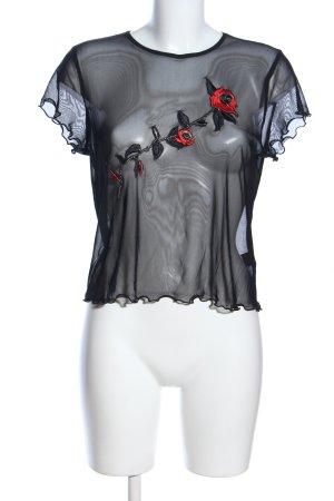 Blak Atelier Maglia a rete nero-rosso elegante