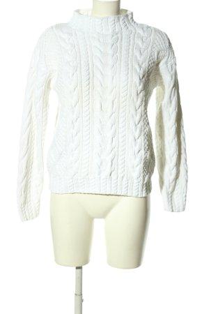Blanc Bleu Gehaakte trui wit casual uitstraling