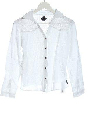 Blanc du Nil Hemdblouse wit casual uitstraling