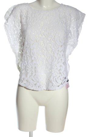 Blanc du Nil Kanten blouse wit casual uitstraling
