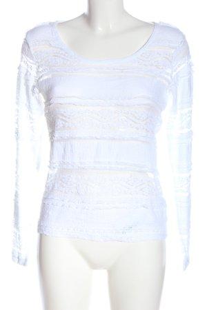 Blanc du Nil Kanten blouse wit elegant