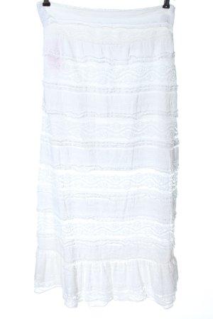 Blanc du Nil Kanten rok wit casual uitstraling