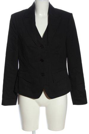 blanca Short Blazer black striped pattern business style