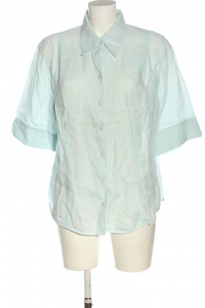 blanca Blouse en lin turquoise style décontracté