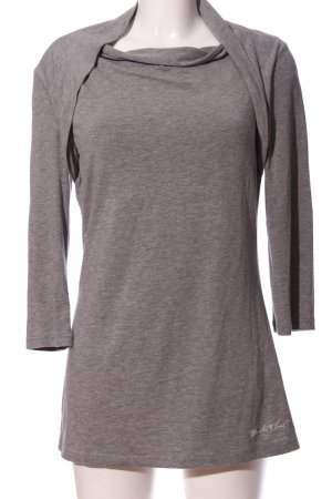 Blanche Camicetta a maniche lunghe grigio chiaro puntinato stile casual