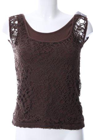 Blancheporte Koronkowy top brązowy W stylu casual