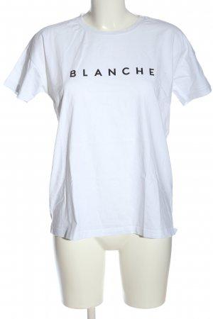 Blanche T-shirt biały Wydrukowane logo W stylu casual