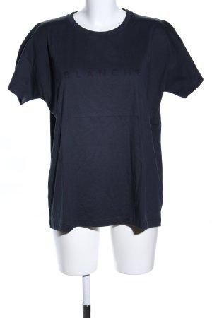 Blanche T-Shirt hellgrau Schriftzug gedruckt Casual-Look