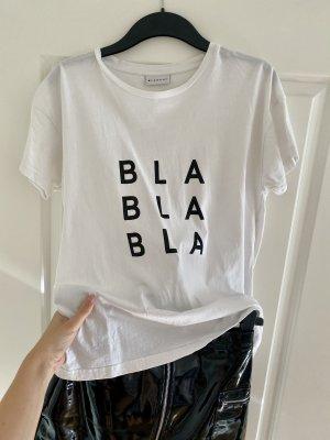 BLANCHE T-Shirt weiß mit Print Größe L ca. 36-42