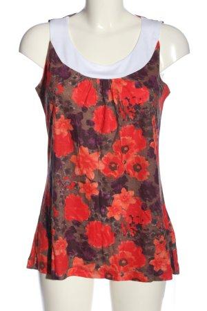 Blancheporte Bluzka bez rękawów Wzór w kwiaty W stylu casual