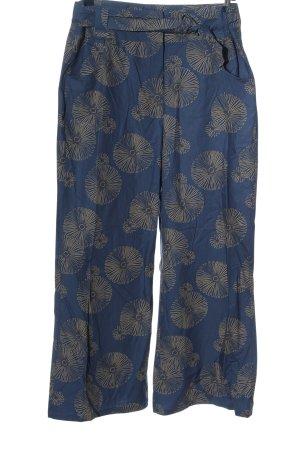 Blancheporte Luźne spodnie niebieski-bladożółty Na całej powierzchni
