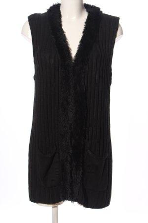 Blancheporte Kardigan czarny Warkoczowy wzór W stylu casual