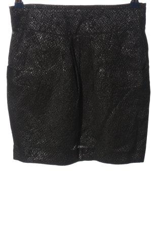 Blanco High Waist Skirt black allover print elegant