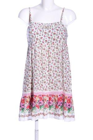 Blanco Vestido Hippie estampado floral elegante