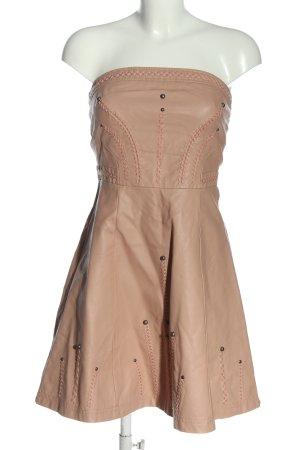 Blanco Faux Leather Dress nude wet-look