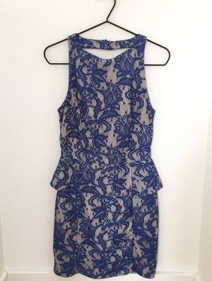 Blanco Dress cream-blue