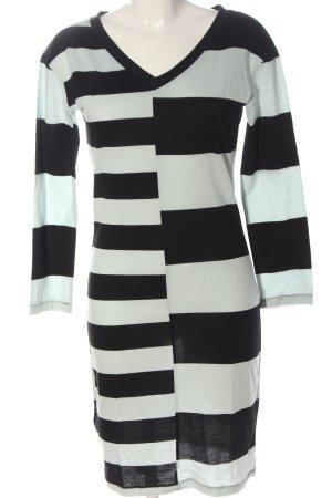 Blanco Sweater Dress white-black striped pattern casual look