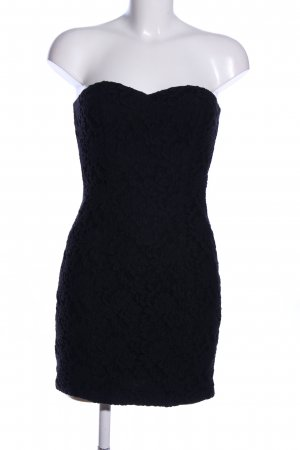 Blanco schulterfreies Kleid schwarz Business-Look