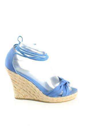 Blanco Wedges Sandaletten blau-creme Casual-Look