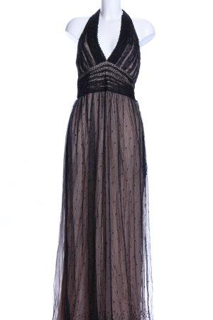 blank London Abendkleid wollweiß-schwarz Allover-Druck Elegant