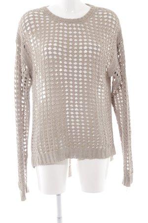 Blank NYC Denim Kraagloze sweater beige-lichtgrijs casual uitstraling