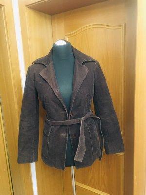 Blazer de lana marrón oscuro