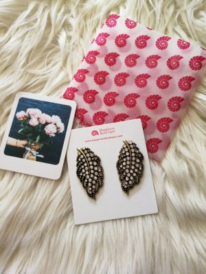 Blattförmige Ohrringe Happiness Boutique