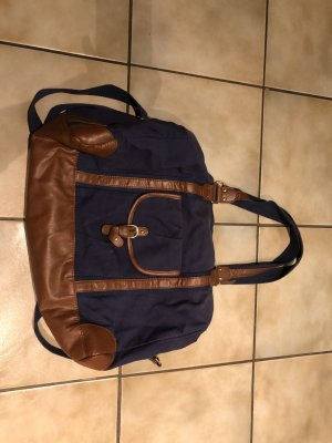 Blau/ braune Tasche von H&M