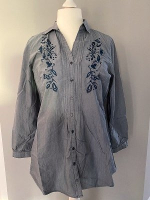 Blau gestreifte Bluse / Tunika von Tom Tailor, Gr. 44