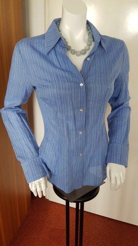 Blau gestreifte dünne Langarm  Bluse von Zara Basic