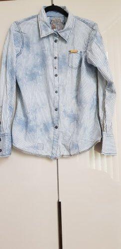 Blau- gestreifte Khujo Bluse