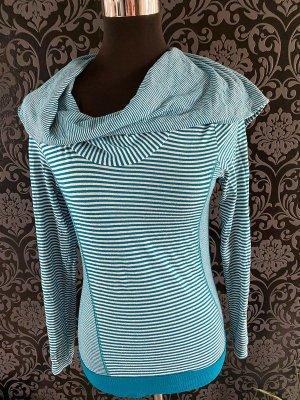 Blau gestreiftes Kapuzen Shirt von Vero Moda Denim, Gr. M
