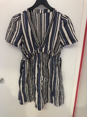 Blau gestreiftes Kleid Zara