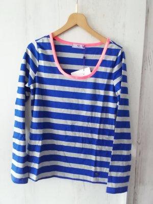 AJC Koszulka z długim rękawem szary-niebieski