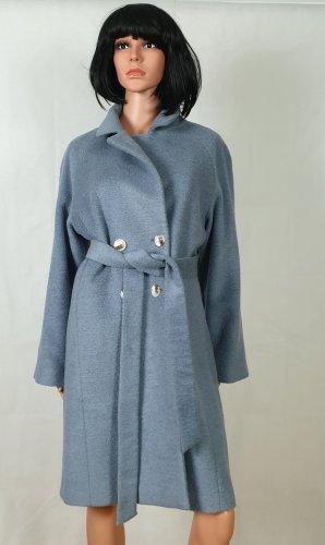 Blau Grau Mantel, Handmade,Herbst,Alpaca,38