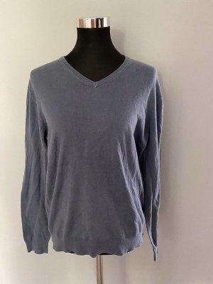 Blau grauer Pullover von Uniqlo, Gr. M