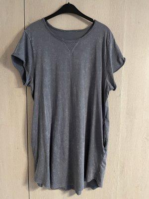 C&A Sukienka o kroju koszulki szary-ciemnoniebieski
