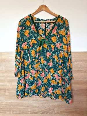 Blau grün gelb Blumen Jumpsuit Kleid von Zara, Gr. S (NEUw.)