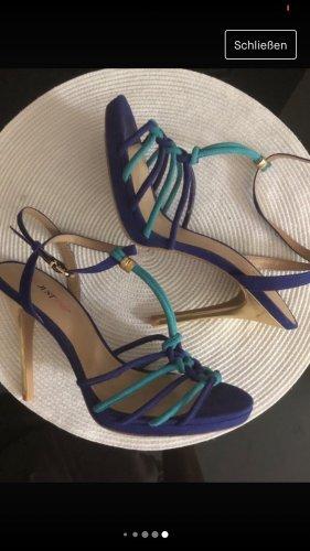 Blau Grün Sandalen High Heels Absatz