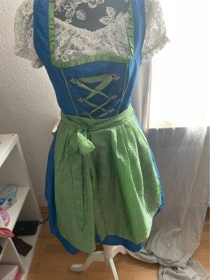 Blau/grünes Drindel mit Bluse